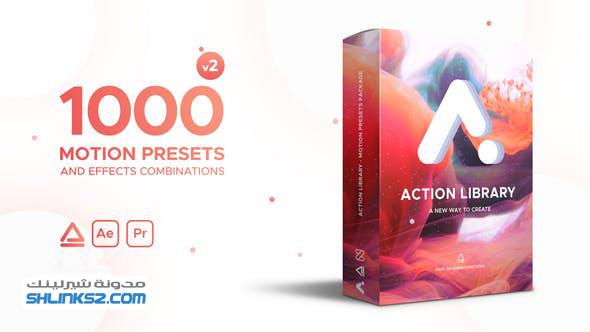 تحميل مجاني قوالب افتر افكت | Action Library Motion Presets Package 22243618 Videohive