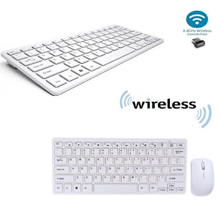 kit tastiera e mouse mini wireless