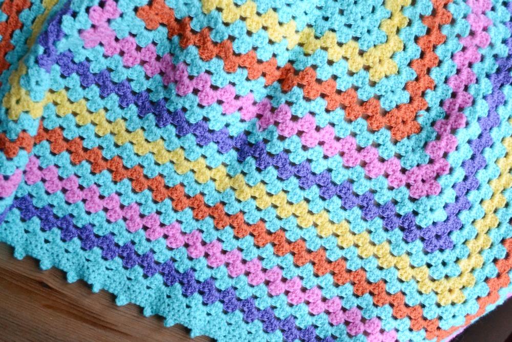 giant granny square baby blanket crochet DK yarn stylecraft