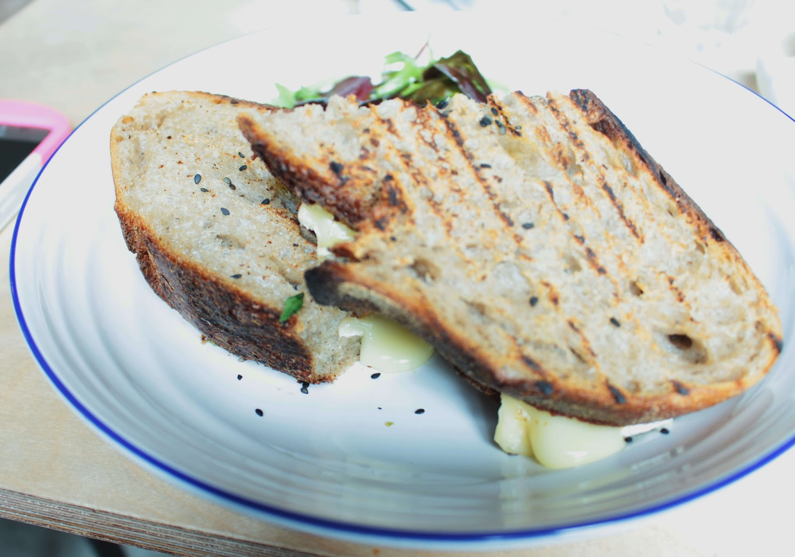 the hive wellbeing london review toasted brie sandwich