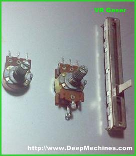 Tipe Potentiometer Putar dan Geser