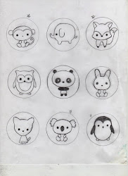 animal easy kawaii drawings drawing clay animals polymer canes fox doodles doodle hard monkey penguin creator joy owl patterns simple