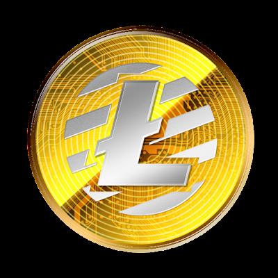 仮想通貨ライトコインのフリー素材(金貨ver)