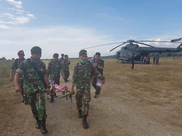 TNI Gelar Patroli Kesehatan Melalui Udara di Wilayah Donggala