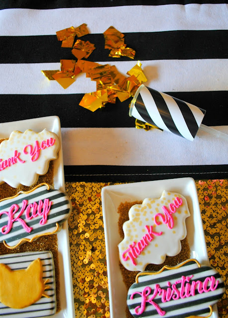 Cookies created by Creating Awesomenessity for FizzyParty's BFF party