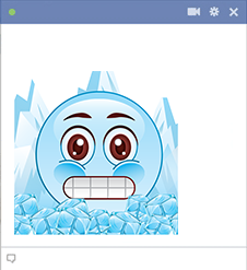 Frozen smiley for Facebook