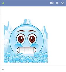 Frozen smiley for Facebook