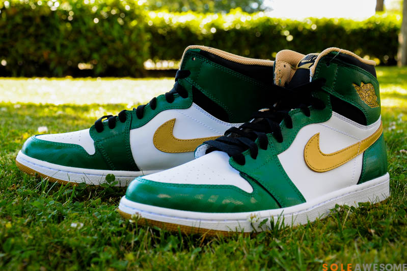 new concept 43c8b 017a4 If you like these Celtic inspired AJ1 s that were released in early April,  visit Sole Awesome for details on how to grab a pair for yourself and enjoy  some ...