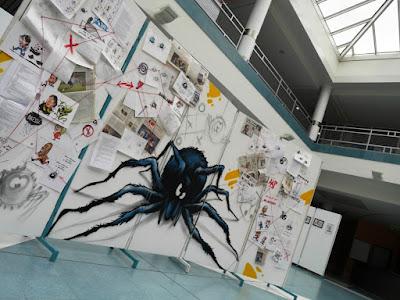 HMI L'araignée au plafond - expo livre