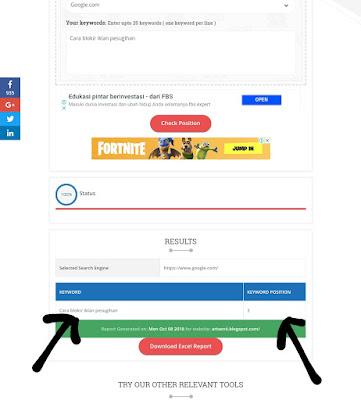 Cara Cek Halaman Keberapa Artikel kita di Google Search