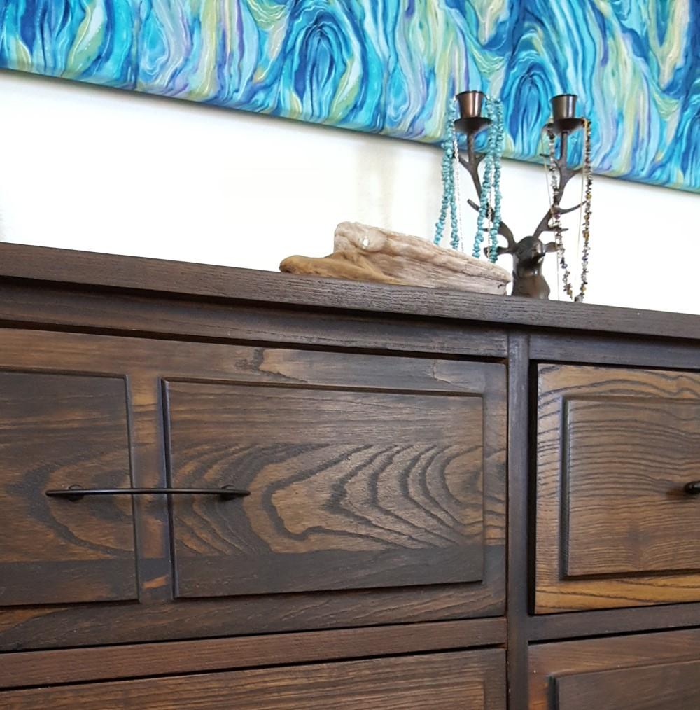 mid century dresser makeover drawer pulls