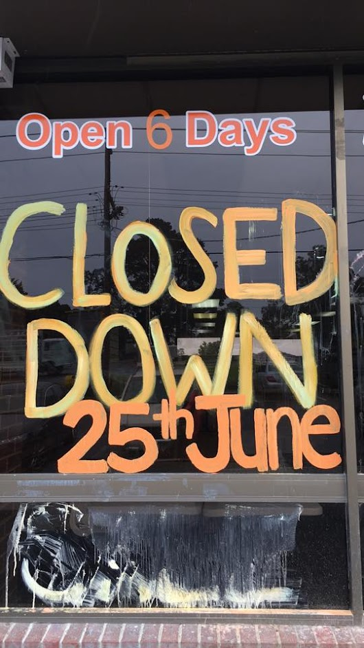We Are Now Closed.....................................................