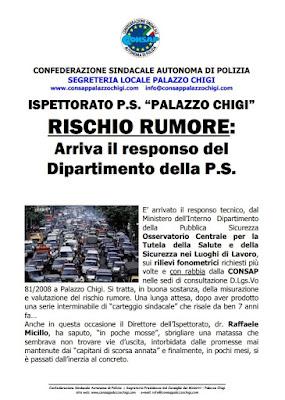Comunicato CONSAP Palazzo Chigi del 25 Ottobre 2012