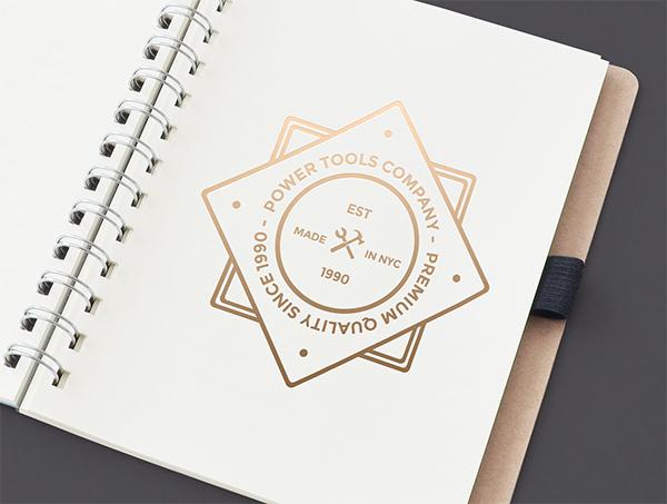 Download Template Mockup Terbaru - Golden Logo Mockup