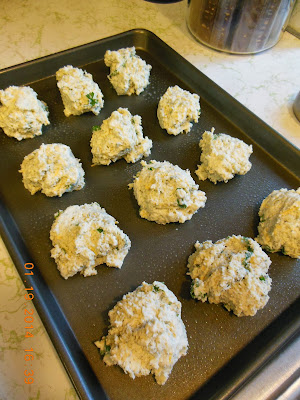 Blue Cheese Drop Biscuits, ready to bake.