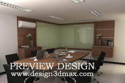 Jasa design 3D ruang meeting Interior Kantor