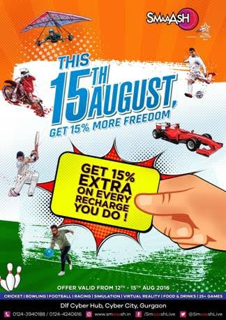 Feel the spirit of Freedom at SMAAASH, Cyberhub Gurgaon