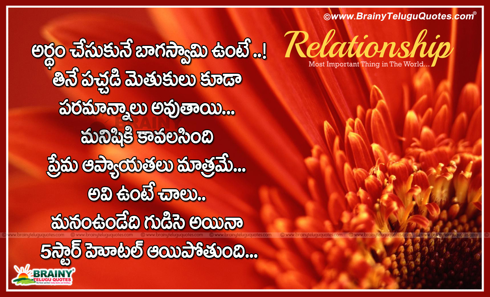 Wife And Husband Relationship Sms In Telugu