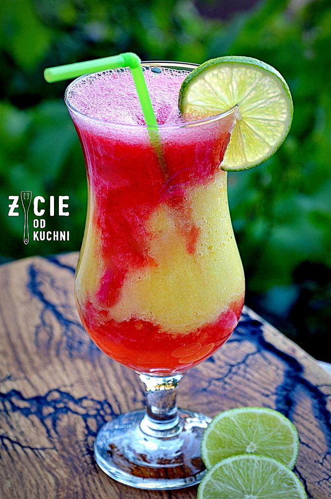 letni drink, drink owocowy, koklajl alkoholowy, drink arbuzowy, drink ananasowy, drink na letnia impreze, orzezwiajacy drink, zycie od kuchni