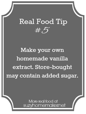 real food tip 5 - vanilla extract | suzyhomemaker.net