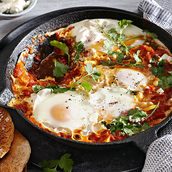 Israeli Poached Eggs (Shakshuka)