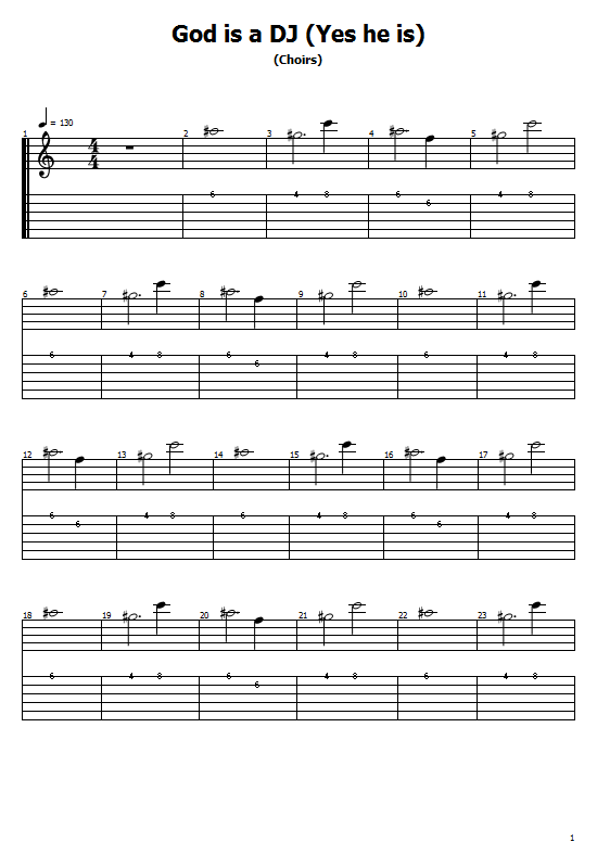 God Is a DJ Tabs Faithless - How To Play God Is a DJ On Guitar Tabs & Sheet Online