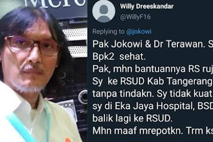 Curhatan Terakhir Willy, Jurnalis yang Meninggal Karena Positif Corona, Ini Respons RSUD Tangerang