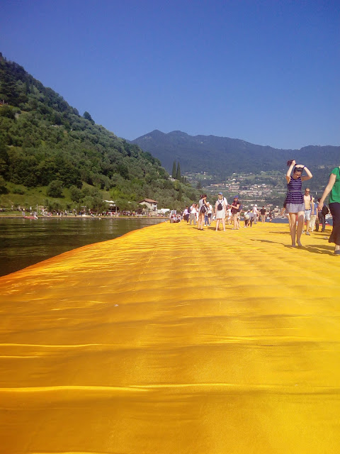 Italy: Floating Piers, Iseo Lake, Montisola