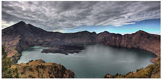 Crater Lake and Gunung Baru, Rinjani, Lombok