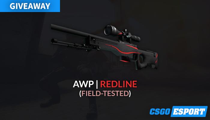 Giveaway skin CS:GO AWP | Redline (Field-Tested)