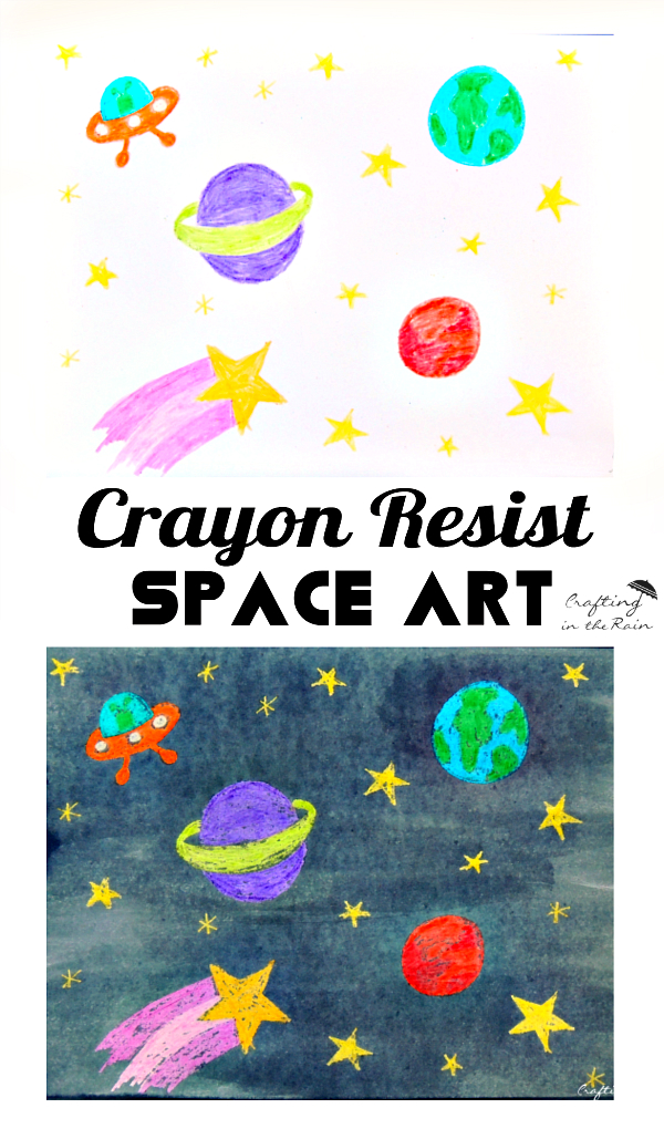Space Art Crayon Resist