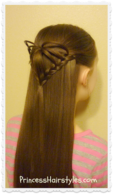 Half-Up 3D Heart Hairstyle, Valentine's Day Hairstyles