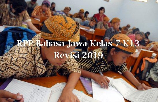 RPP Bahasa Jawa Kelas 7 K13 Revisi 2019