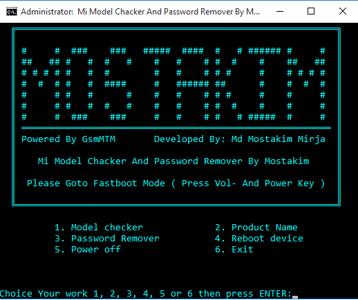Mi Password Remover And Model Chacker