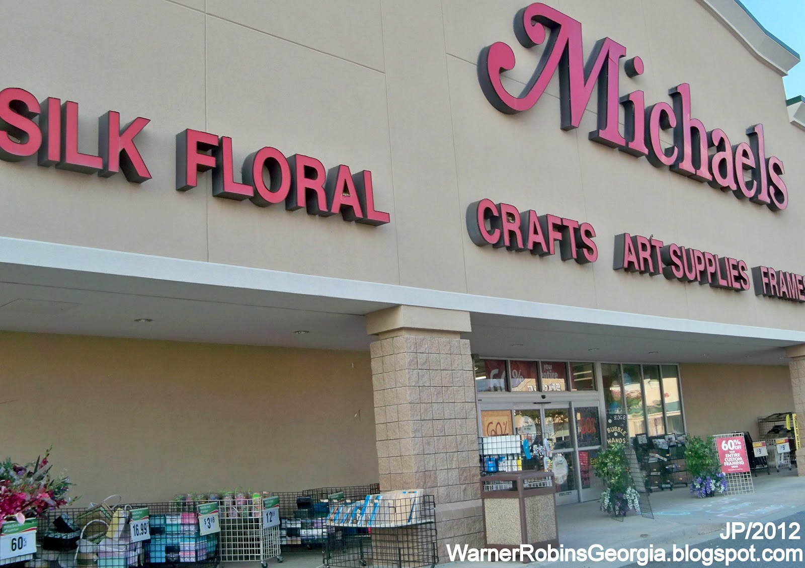 Michaels party store : Bare wood furniture