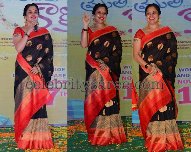Pragathi Black Silk Saree