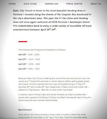 Baku City Circuit info