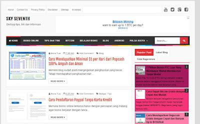 Daftar Template Premium Gratis Sederhana dan Responsive untuk Blogger 1