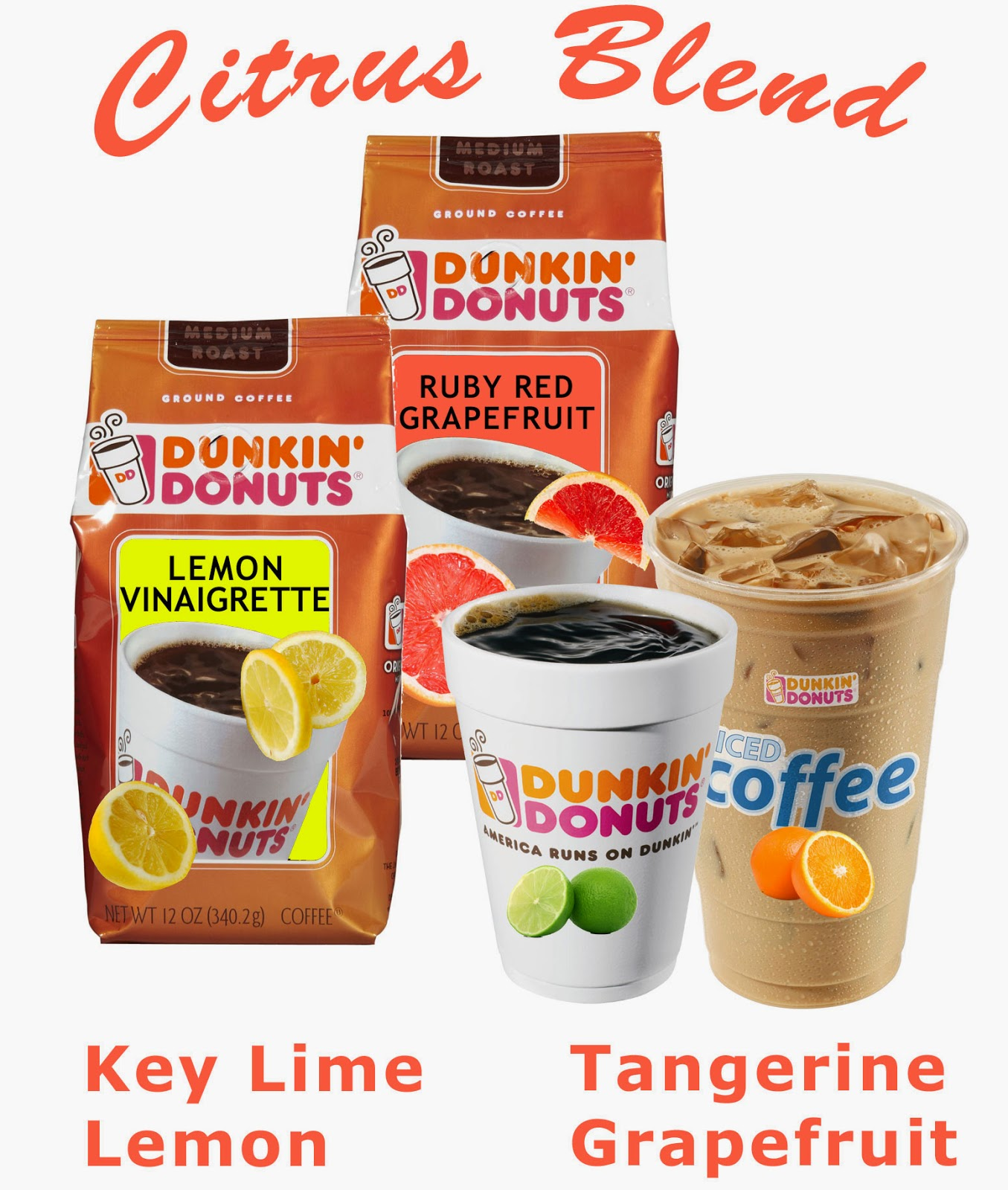 Dunkin Donuts new coffee flavors for Summer