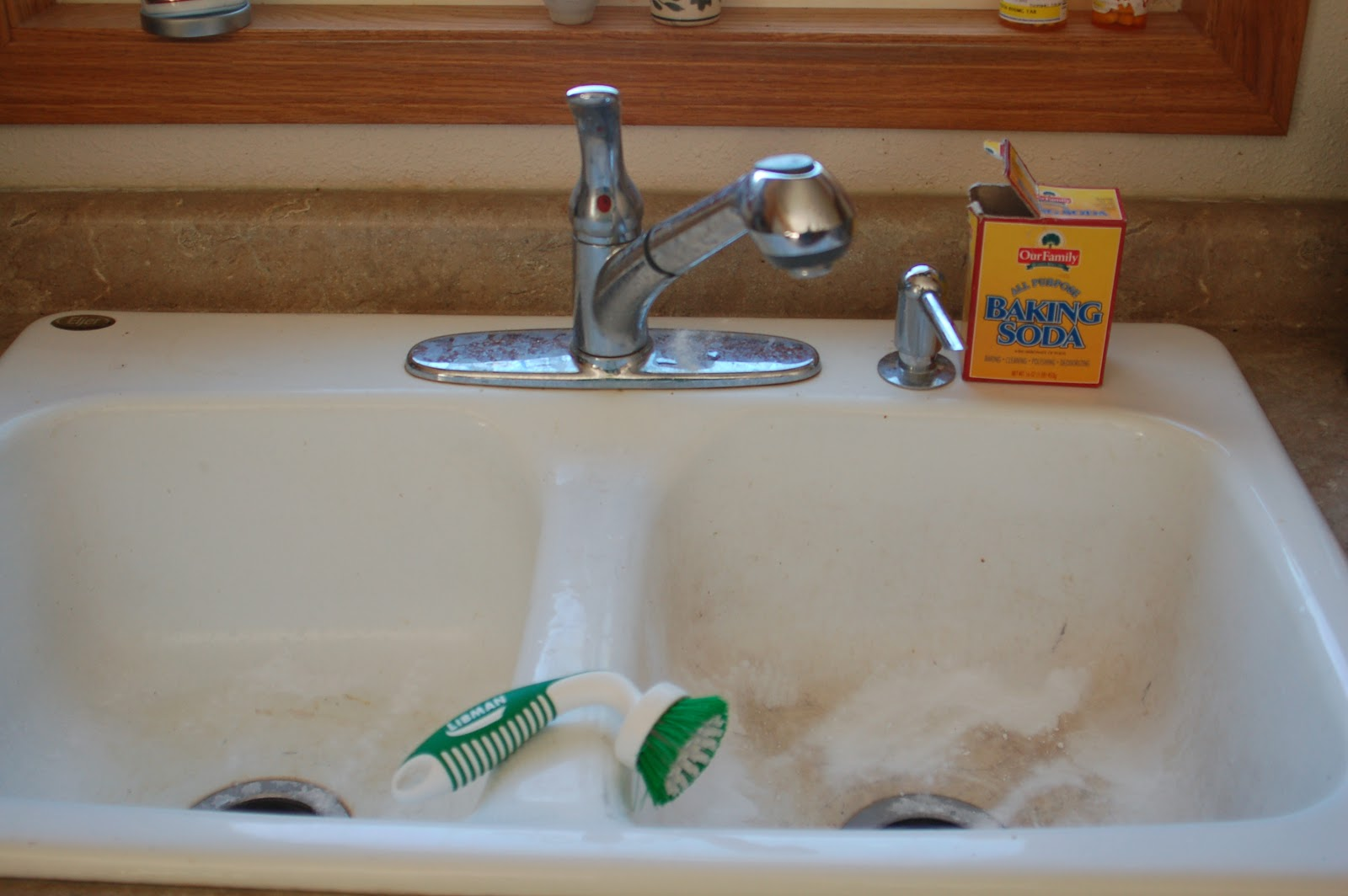 shiny sink porcelain kitchen sink How to Clean Porcelain Sinks without Bleach