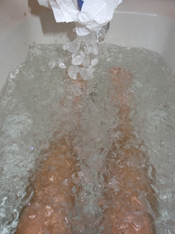 Post marathon icebath