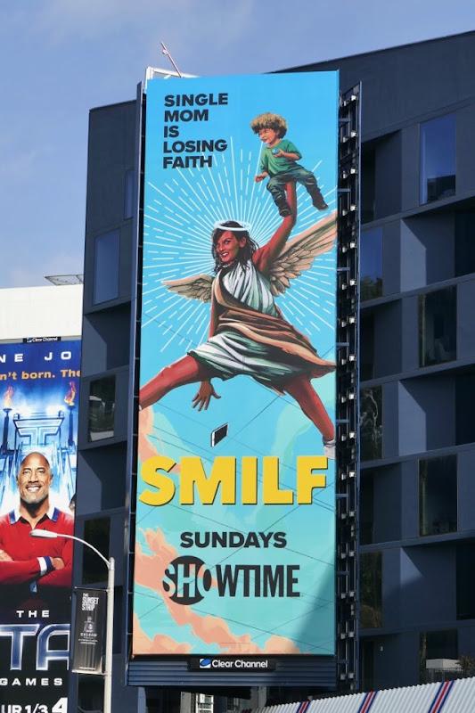 SMILF season 2 Single mom losing faith billboard