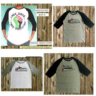 Supplier Kaos Raglan Palestina