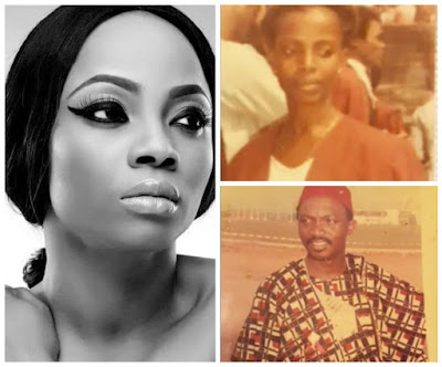 Image result for toke makinwa 24 years parent death