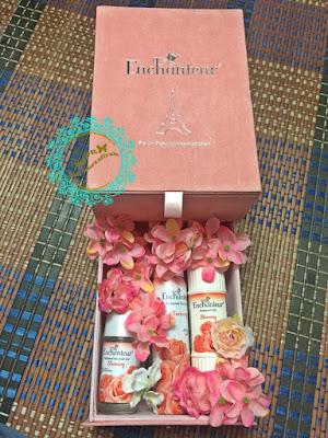 enchanteur, stunning, product baru, wangian baru, edt, deodorant, talcum, perfume bau lembut, wangian ala paris