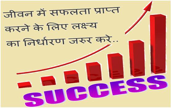 जीवन में सफलता प्राप्त करने के लिए लक्ष्य का निर्धारण