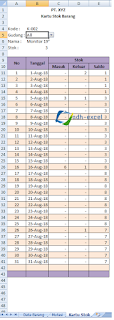 Kartu Stock Excel : kartu, stock, excel, Kartu, Excel, Peatix