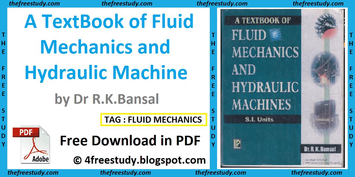 Fluid Mechanics Text Book