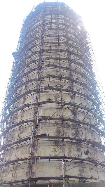 Rapid Bus Terminal Cheras - Demolished Silo - 03 Scaffold Erection