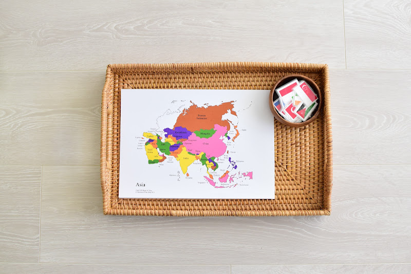 Asia Study for Kids: MAP Work